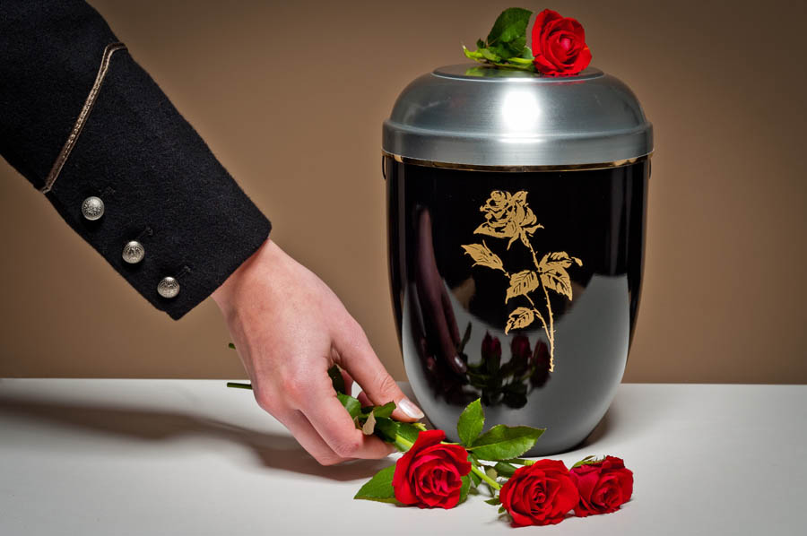 immagine di un'urna cineraria utilizzata per la cremazione